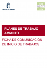 Ficha de comunicación de inicio de los trabajos