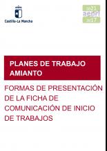 Formas de presentación de la ficha de comunicación de inicio de los trabajos