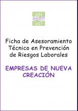 Ficha de AsesoramientoTécnico en PRL para EMPRESAS DE NUEVA CREACIÓN