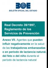 AnexoVII del R.D.39/1997, por el que se aprueba el Reglamento de los Servicios de Prevención