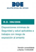 RD 396/2006, seguridad y salud aplicables a trabajos con riesgo de amianto