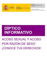 Díptico acoso sexual y por razón de sexo: ¡Conoce tus derechos!