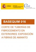BASEQUIM 016-Corte de tuberías de fibrocemento en exteriores: exposición a fibras de amianto