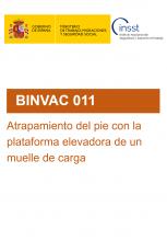 BINVAC 011-Atrapamiento del pie con la plataforma elevadora de un muelle de carga