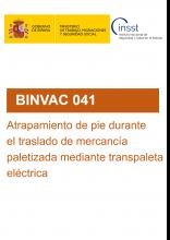 BINVAC 041-Atrapamiento de pie durante el traslado de mercancía paletizada mediante transpaleta eléctrica
