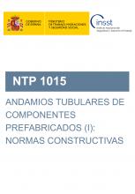 NTP 1015-Andamios tubulares de componentes prefabricados (I): normas constructivas