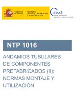 NTP 1016-Andamios tubulares de componentes prefabricados (I): normas montaje y utilización