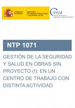 NTP 1071-Gestión de la seguridad y salud en obras sin proyecto (I): en un centro de trabajo con distinta actividad