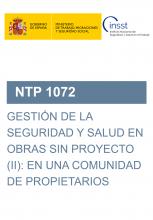 NTP 1072-Gestión de la seguridad y salud en obras sin proyecto (II): en una comunidad de propietarios