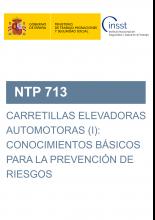 NTP 713-Carretillas elevadoras automotoras (I): conocimientos básicos para la prevención de riesgos