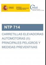 NTP 714-Carretillas elevadoras automotoras (II): principales peligros y medidas preventivas