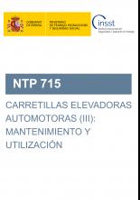 NTP 715-Carretillas elevadoras automotoras (III): mantenimiento y utilización