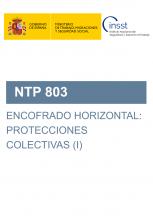 NTP 803- Encofrado horizontal: protecciones colectivas (I)