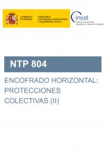 NTP 804-Encofrado horizontal: protecciones colectivas (II)