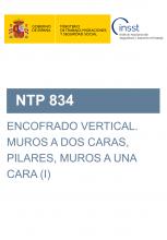 NTP 834-Encofrado vertical. Muros a dos caras, pilares, muros a una cara (I)