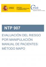 NTP 907-Evaluación del riesgo por manipulación manual de pacientes: método MAPO